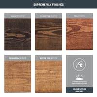 Tanfield Metal Bracket & Rustic Solid Wood Shelf | 9 x 1.5 Inch